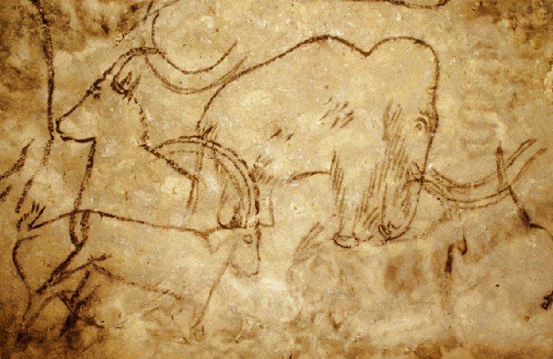 ממותה, רופיניאק, פליאוליתי, ציור קיר