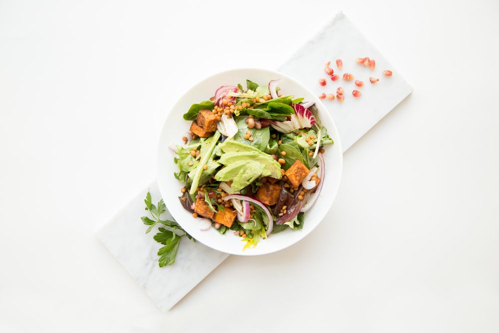 סלט, ירקות