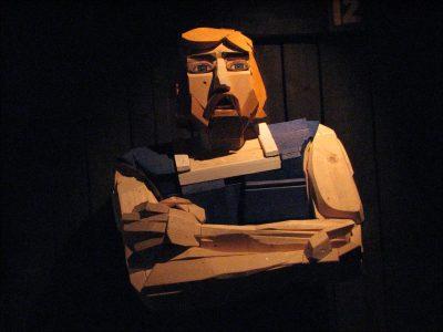 איסלנד, סאגה, פסל עץ