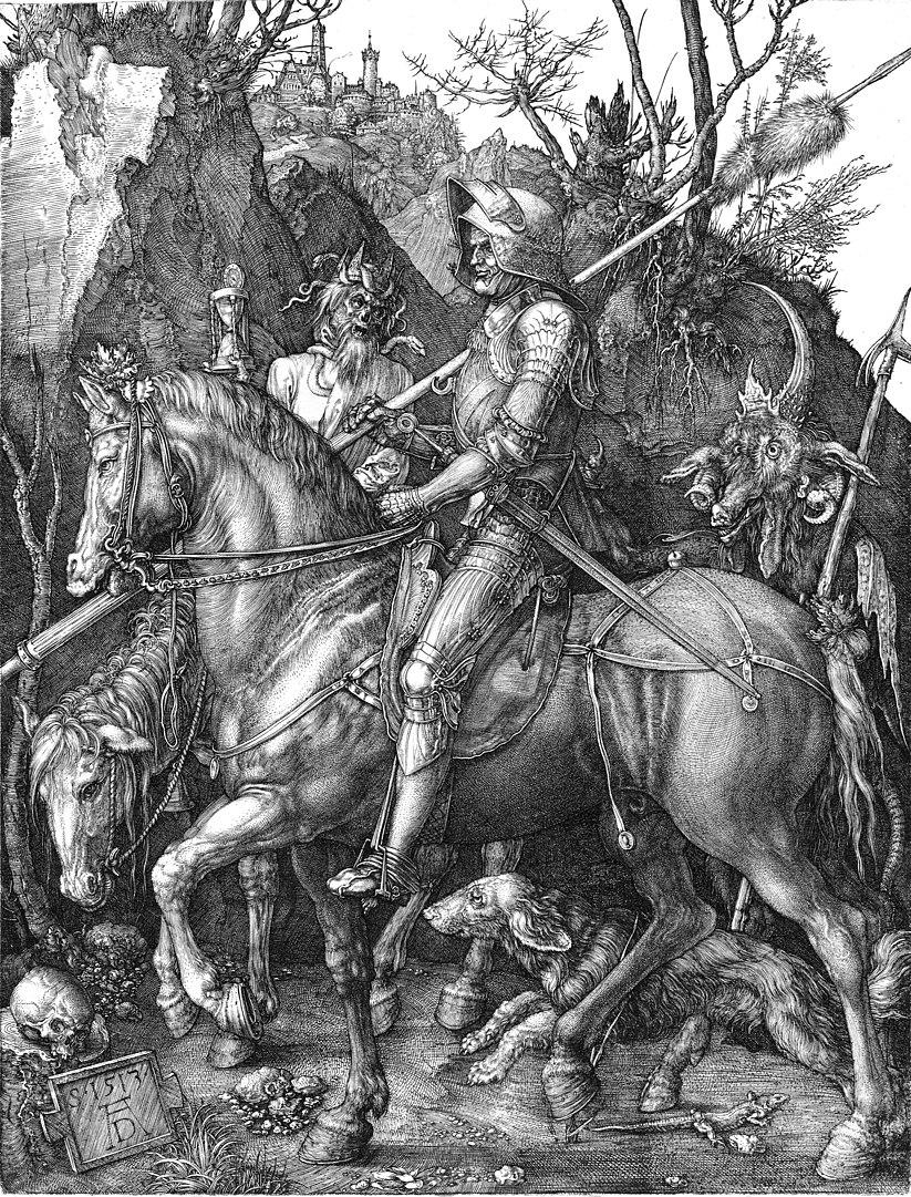 אלברכט דירר, אביר, מוות והשטן