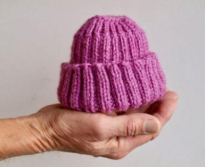 כובע צמר, תינוק, יד