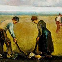 ון גוך, איכרים שותלים תפוחי אדמה