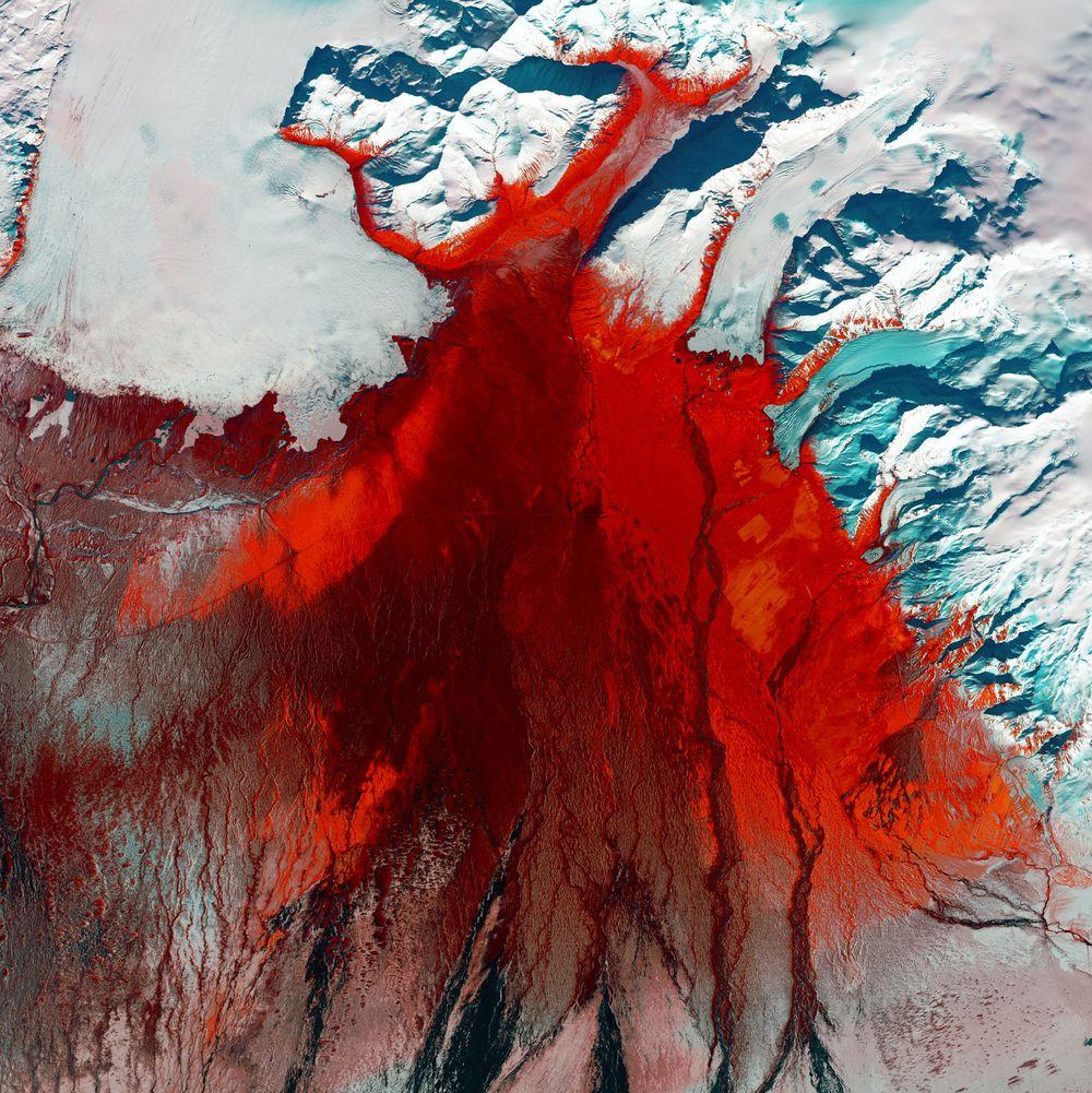 איסלנד, תצלום לווין