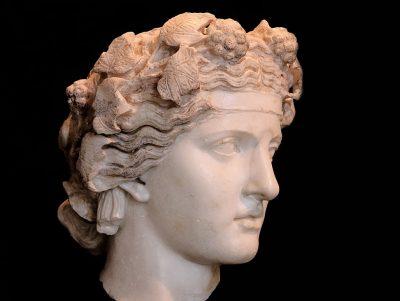 דיוניסוס, שיש, פסל, ראש