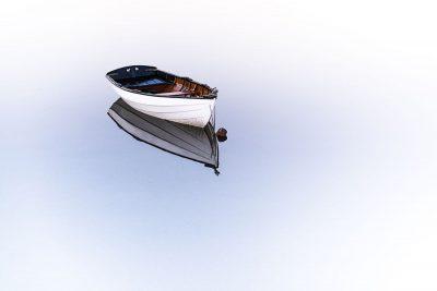 סירה, לבד, מים