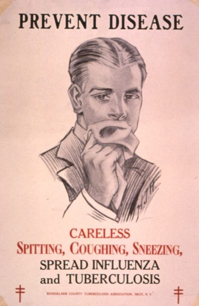 שחפת, שפעת, מגיפה, הסברה, קמפיין, בריאות הציבור
