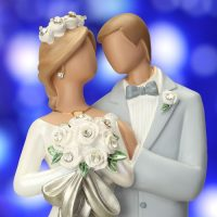 חתן וכלה, עוגת חתונה