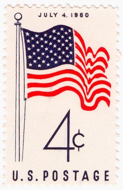 """בול אמריקני, בול דואר, דגל ארה""""ב"""