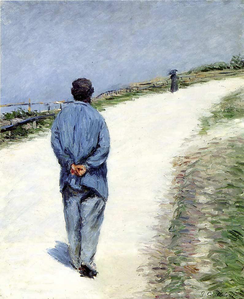 גבר במקטורן כחול, גוסטב קייבוט