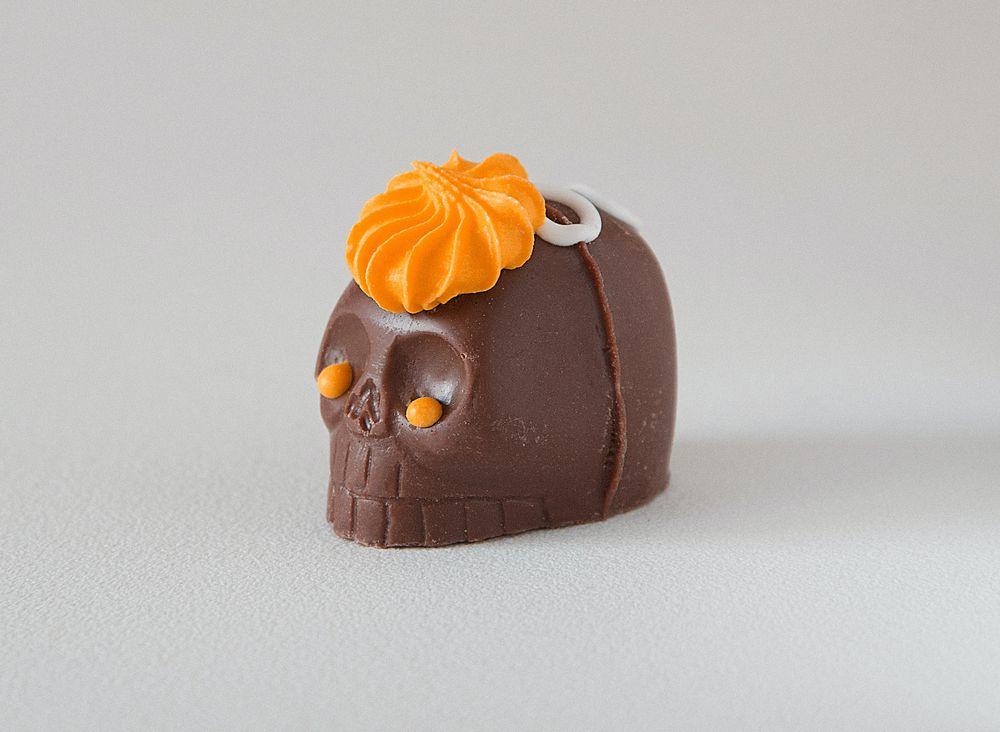 שוקולד, ממתק, גולגולת