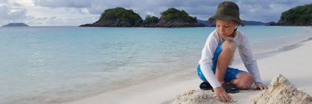 ילד, חול, חוף ים