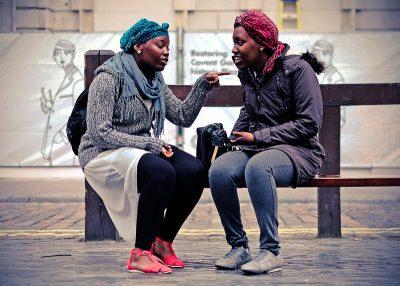 שיחה, דיון, ויכוח, לונדון, שתי נשים, Covent Garden