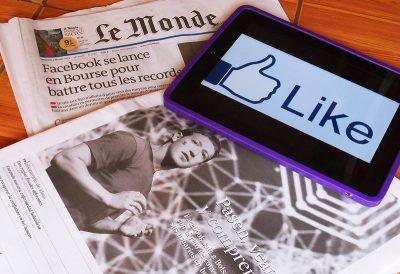 לייק, עיתונות, צוקרברג