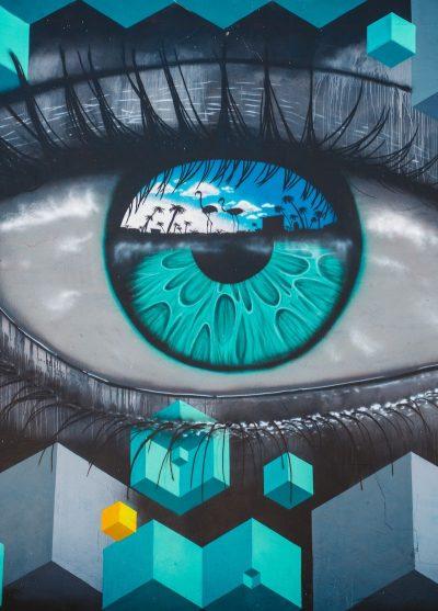 אמנות רחוב, עין, פסיכודליה, מיאמי