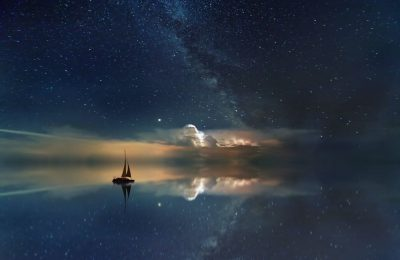 כוכבים, לילה, סירה, ים