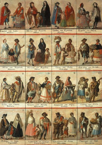 גזע, קסטה, בני תערובת, מקסיקו