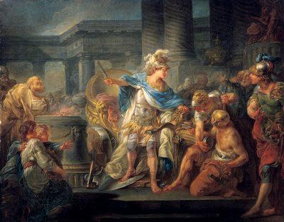 ז'אן-סימון ברתלמי, אלכסנדר הגדול חותך את הקשר הגורדי