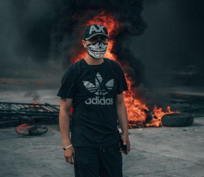 מפגין, מחאה, צ'ילה, סנטיאגו