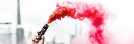 רימון עשן, מחאה, זעם מוסרי