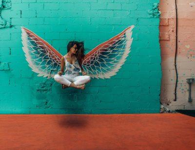 בחורה, כנפיים, מלאך