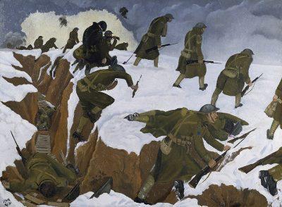 ג׳ון נאש, שוחה, מלחמת העולם הראשונה, תעלות