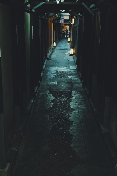 קיוטו, יפן, רחוב, תאורה