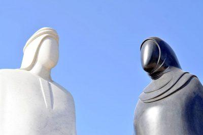 מוסלמים, גבר ואישה, פסל