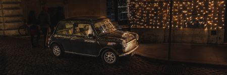 רומא, מיני, לילה, מכונית, אורות