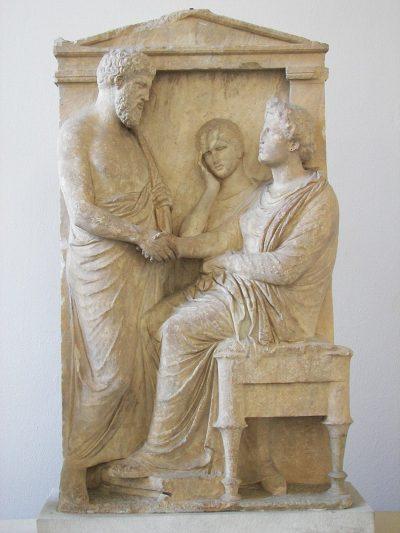 קבר, יוון, תבליט