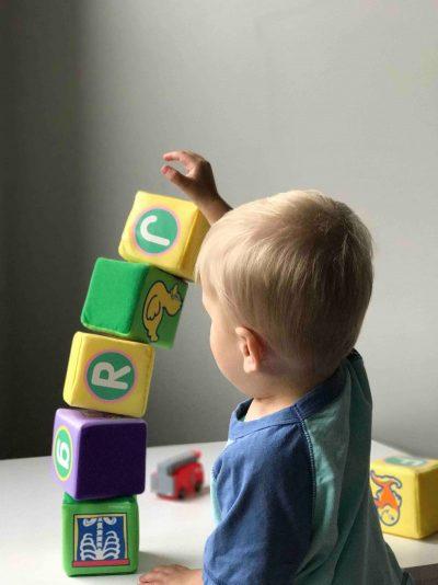 ילד, פעוט, קוביות, משחק