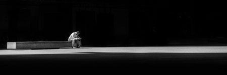 אדם, לבד, ספסל, גלות
