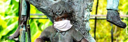 קורונה, מסכה, פסל