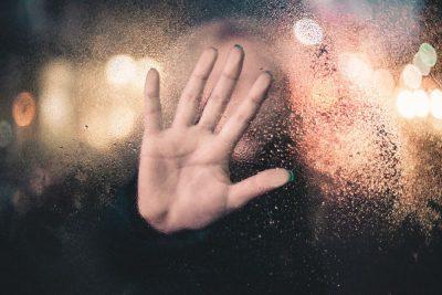 יד, כף יד, זכוכית, מגע