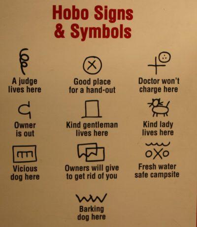 hobo, סימנים, סמלים, נוודים