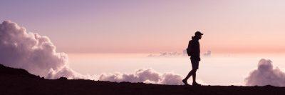 הליכה, שקיעה, עננים