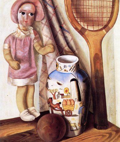 פליקס נוסבאום, טבע דומם עם מחבט טניס