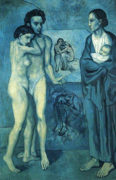 החיים, פיקאסו, התקופה הכחולה