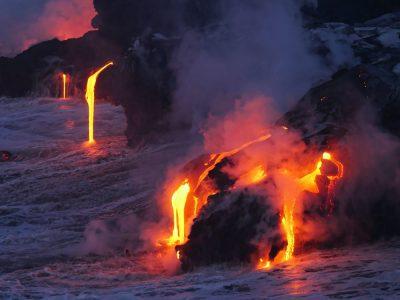 לבה, הר געש, ים, הוואי