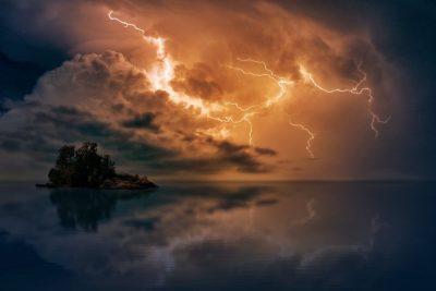 ברק, שמיים, סערה