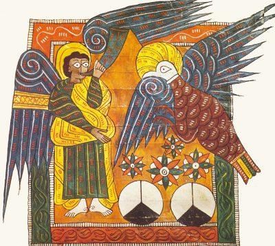 חזון יוחנן, חצוצרה, מלאך