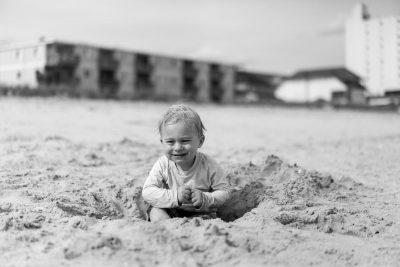 ילד, חול, חוף הים