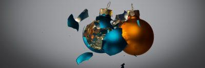כדורים, זכוכית, התנפצות, חג המולד