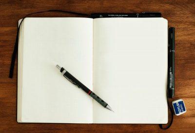מחברת, עיפרון, עט, כתיבה