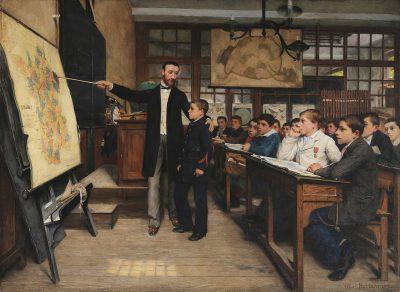 שיעור הגאוגרפיה, הכתם השחור, אלזס לורן, לאומנות, Alphonse-Marie-Adolphe de Neuville