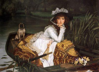 גבירה צעירה בסירה, ג'יימס טיסו