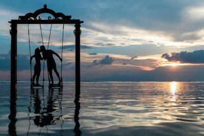 זוג, מאוהב, אהבה, על המים, נדנדה