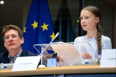 גרטה טונברי, הפרלמנט האירופי, איכות הסביבה, אזרחית, אקטיביזם