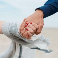 מחזיקים ידיים, מאוהבים, זוג, כפות ידיים