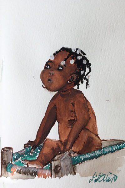 ילדה חומה קטנה, שחורה, ילדה, אפרו-אמריקנית