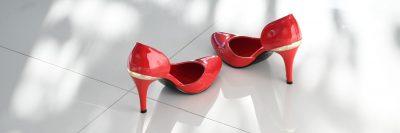 נעלי עקב, נעליים אדומות